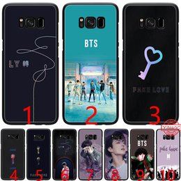 $enCountryForm.capitalKeyWord UK - BTS Fake Love Bangtan Boys Soft Silicone Black TPU Phone Case for Samsung A3 A5 2016 2017 A6 Plus 2018 Cover