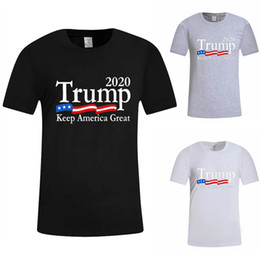 Wholesale 3colors Donald trump t shirt O Neck Short Sleeve Shirt USA Flag Keep American Great letter Tops Tee shirts designer t shirts DHL JY551