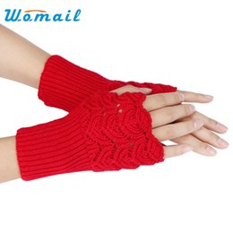 $enCountryForm.capitalKeyWord Australia - Womail Women's Warm Winter Brief Paragraph Knitting Half Fingerless Gloves Mittens Pure color 2015