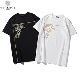 8a94698342df87 New 2019 Mens Summer Tees Plus Size Short Sleeve T Shirt Cotton T-shirt 3D  Designer Clothing Half Face Hot Stamping Head Print 4222#