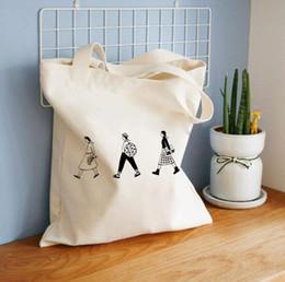 $enCountryForm.capitalKeyWord Australia - Original Homemade Shopping Bags Printing Triple-Line Vintage Simple Art Single-Shoulder Canvas Bag Shopping Bag For Girls