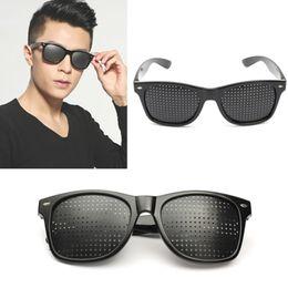 $enCountryForm.capitalKeyWord Australia - Wholesale-1pcs New Arrival Portable Eyes Healthy Care Unisex Vision Protection Pin Hole Eyeglasses Eye Exercise Eyesight Improve Glass