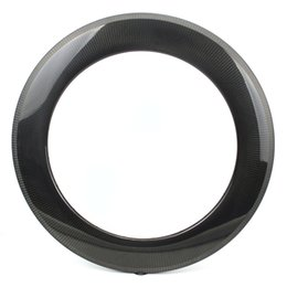 China 700C 88mm Depth Carbon Fiber Rims Clinche   Tubular  Tubeless For Road Bike And Triathlon With 1k 3k 12k UD suppliers