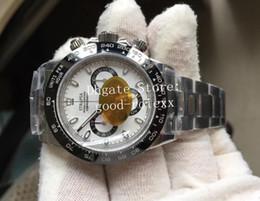 Опт 3-х цветная автоматическая Cal.4130 Часы 904L Сталь Хронограф Мужская Керамическая рамка 116500 LN Cosmograph Men Sport 116506 N Eta Factory Watch