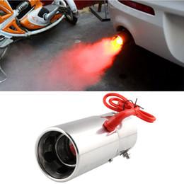 Auto Universal-Modifikation Red Light Flaming Edelstahl Schalldämpfer Spitze Spitfire Auto-LED Auspuff Auspuffanlage im Angebot