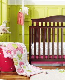 Girls Bedding Australia - High Quality Baby Organizer for infant girl Crib bedding set Cotton home of flamingos Baby protect bumper setquilt bedskirt quilt bumper