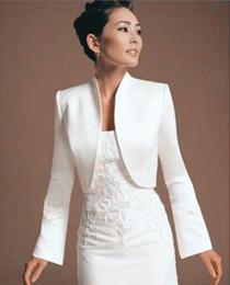 a1c25b4c97 Gold satin lonG sleeve bolero online shopping - Vintage Satin Bolero Bridal  Coverup for Bridal Wedding