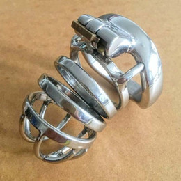 $enCountryForm.capitalKeyWord Australia - Bdsm Metal Cock Cage Stainless Steel Male Chastity Device Penis Lock Cages Cockring Cbt Sex Toys For Men Cb6000s Y19070602