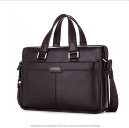 $enCountryForm.capitalKeyWord NZ - Luxury Original Brand Cowhide Men Briefcases Men 100% Genuine Leather Handbags Mens Leather Laptop Bag Real Shoulder Bag
