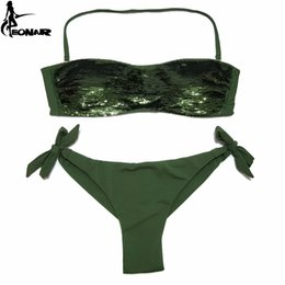 $enCountryForm.capitalKeyWord Australia - EONAR Bikini 2019 Sewn Sequin Women Swimwear Brazilian Cut Bottom Bikini Set Low Waist Swimsuit Bathing Suits Summer Beach Wear