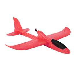 rechargeable toy cars UK - 2020 DIY Electric Assisted Glider Foam Power Flying Plane Rechargeable Motor Aircraft Model Education Outdoor Toy For Little Boy