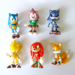 anime figures resin Australia - 1 Set Retail 6Pcs set Anime Cartoon Sonic The Hedgehog Figure Action Set Doll Toys Free Shipping