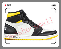 Discount best high top shoes men - 1 High OG Mens Basketball Shoes Banned Bred Toe Shadow Gold Top Best Mens Athletics sports luxury designer Sneakers Trai