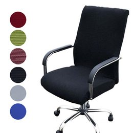 computer dust covers NZ - Elasticity Office Computer Chair Cover Side Arm Chair Cover Spandex Rotating Lift Dust for Universal Without