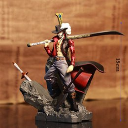 one piece toys 15cm NZ - 15cm One Piece Dracule Mihawk Action Figure Big Event Hawkeye PVC Anime Figures Collectable Boxed Model Toys birthday Gifts