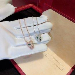 $enCountryForm.capitalKeyWord Australia - New Pure 925 Sterling Silver Fashion Zircon Leopard Necklace Party Jewelry Luxurious White Gold Leopard Head Chain J190711