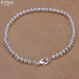 $enCountryForm.capitalKeyWord Australia - 925 Fashion Elegant Gold  Silver Plated 4mm 6mm 8mm 14cm 16cm 18cm 20cm Beads Chain Women Lady Cute Kralen Bracelet Jewelry H198