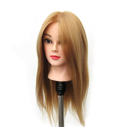 "mannequin head hairdressing UK - Synthetic Hair 24"" Salon Hairdressing Mannequin Practice Training Head osmetology Mannequin Head With hair & Clamp Holder"