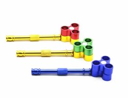 $enCountryForm.capitalKeyWord Australia - New Three Confucius Bullet Molding Metal Pipe Multicolor Selective Wholesale Portable Pipe