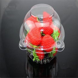 $enCountryForm.capitalKeyWord Australia - Hot New 20 Pcs set Thin Plastic Cupcake Cake Muffin Dome Case Holder Boxes Container