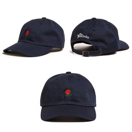 Sale Women Man Couples Adjustable The Hundreds Rose Flower Embroidered Baseball Cap Casual Cool Harajuku style Hiphop Visor Hat on Sale