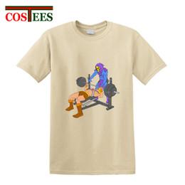 $enCountryForm.capitalKeyWord Australia - Parody Gym Buddies T shirt men Skeletor weight lifting Print T-shirt Novelty muscle skeleton Tee shirt 100% combed Cotton tshirt