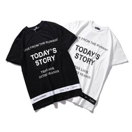$enCountryForm.capitalKeyWord UK - 19ss New Arrival Ribbon Letter Hot Sale Paris Cotton Tshirt Printing Short Sleeve Summer Tee Breathable Vest Shirt Streetwear Outdoor Tshirt