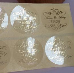$enCountryForm.capitalKeyWord Australia - 90 Damask Wedding Personalised Clear Bomboniere Envelope Sticker Seals Labels J190719