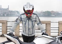 $enCountryForm.capitalKeyWord Australia - Men's Motorcycle Denim Riding Protector Jacket Sport outdoor jacket Vintage Wash