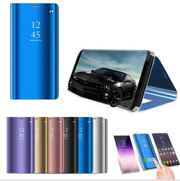 $enCountryForm.capitalKeyWord NZ - 2019 Official Original Flip Stand Phone Case For Samsung Galaxy Note 9 8 S8 S9 S10 Plus S7 Edge Smart Mirror View Case Cover
