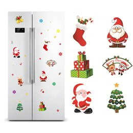 christmas glass window wall 2019 - Christmas Decorations for Home Sticker Pendant New Year Festival Glass Window Wall Stickers Snowman Santa Claus Decor St