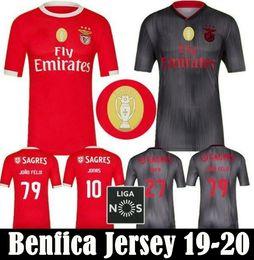 aeb0f0a797e Thailand 2019 2020 Sport Lisboa e Benfica JONAS Soccer Jerseys 19 20 PIZZI  Salvio jersey Football shirt camisa de futebol Portugal tees