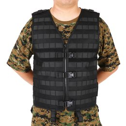molle gear UK - Lixada Outdoor Men's Molle Tactical Vest Hunting Gear Load Carrier Vest Sport Safety Hunting Fishing with Hydration Pocket