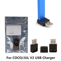 smoke pen wholesale Australia - COCO USB charger E Cigarette Magnetic Connection USB Chargers For COCO Portable Smoking Vape Pen Pods Starter v2 Kits DHL Free Shipping