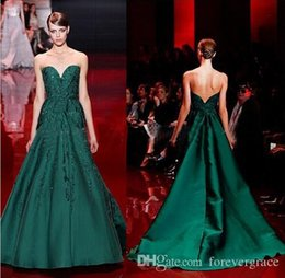 $enCountryForm.capitalKeyWord Canada - Elie Saab 2019 Evening Dress High Quality Emerald Green Sweetheart Applique Long Women Wear Prom Party Dress Formal Event Gown
