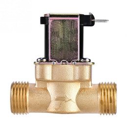 """Ac Control Valve Australia - Hot 1Pcs Solenoid Valve 1 2"""" AC 220V Normally Closed Brass Electric Solenoid Magnetic Valve For Water Control"""