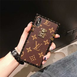 Wholesale Mobile Cover Monogram Leather Phone Case For Iphone XS Max XR X Plus Letter Pattern Dirt resistant Cellphone Shell For Gifts