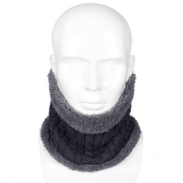 $enCountryForm.capitalKeyWord UK - Men Women Children Neck Warmers 2018 New Unisex Winter Warm Knitted Ring Scarves Thick Fleece Inside Elastic Knit Mufflers