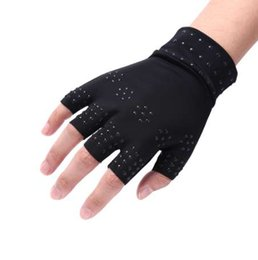 Vente en gros 1 paire de soins de santé outil de thérapie magnétique gants sans doigts arthrite soulagement de la douleur guérir articulations attelles supports