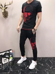 $enCountryForm.capitalKeyWord NZ - Sports New Pattern Man Tracksuit Lapel And 76t Short Sleeve Motion Trousers Korean Edition Embroidery Leisure 2019 Suit