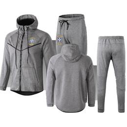 $enCountryForm.capitalKeyWord Australia - Best qualityBrazil Long Sleeve Jacket Suit adult Kit Soccer Jersey COUTINHO Training Uniform 2018 19 Brazil VINICIUS JRjacket Football Suits