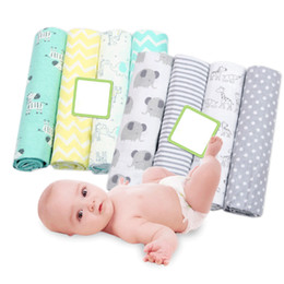 $enCountryForm.capitalKeyWord NZ - 4Pcs Lot Baby Blankets Newborn Muslin Diapers 100% Cotton Flannel Infant Swaddle Blanket For Newborns Photography Swaddle Wraps