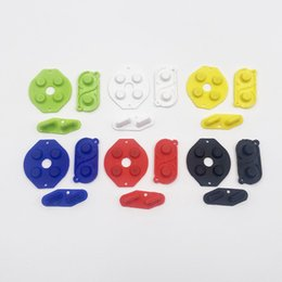 ds buttons Canada - Color Replacement D-Pad Button Conductive Rubber Pads for Gameboy Classic for GBO GB Fat DMG Direction A B Start Select Button