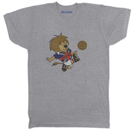 ENGLAND WORLD CUP SOCCER FOOTBALL MENS WILLY MASCOT CULT CLASSIC Grey T  Shirt Gift Print T-shirt 38974d32b