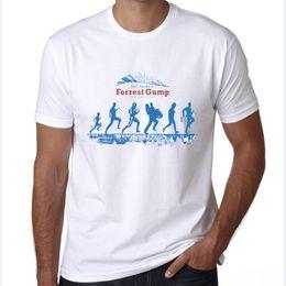 $enCountryForm.capitalKeyWord Australia - Life t shirt Forrest Gump run short sleeve tees Tom Hanks film tops Fadeless print clothing Pure color colorfast modal tshirt