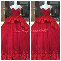 Beautiful quinceanera dresses online shopping - Beautiful Sweetheart Lace Quinceanera Dresses Ball Applique Sleeveless Plus Size Girl Prom Party Dress Formal Gowns Sweep Length