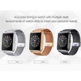 $enCountryForm.capitalKeyWord Australia - Wholesa Bluetooth Smart Watch Phone Z60 Stainless Steel Support SIM TF Card Camera Fitness Tracker GT08 GT09 DZ09 Smartwatch for IOS Android