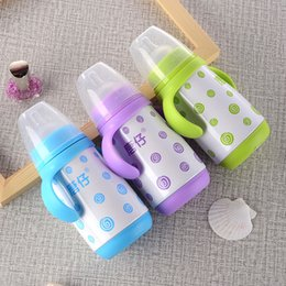infant cup feeding Australia - 280ml Stainless Steel Baby Feeding Bottle Infant Milk Bottle Nursing Feeding Bottle Baby Water Cup with handle Free shipping