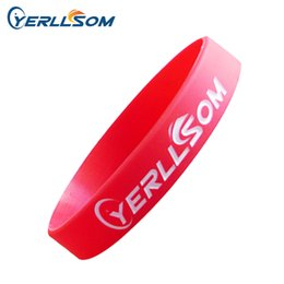 Logo Promotional Gift Australia - silicone bracelet 500pcs lot High quality Customized 1 Color logo personalized silicone bracelets for promotional gifts P0602