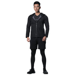 men tight suits UK - Men's Tracksuits Sports Suit F-1 Summer Leisure Air-permeable,Tight-fitting and Quick-drying Training Running Suit,Neck Pullover Slim Active